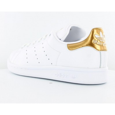 adidas stan smith blanche et or
