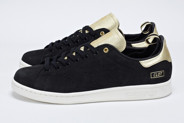 stan smith noir en daim