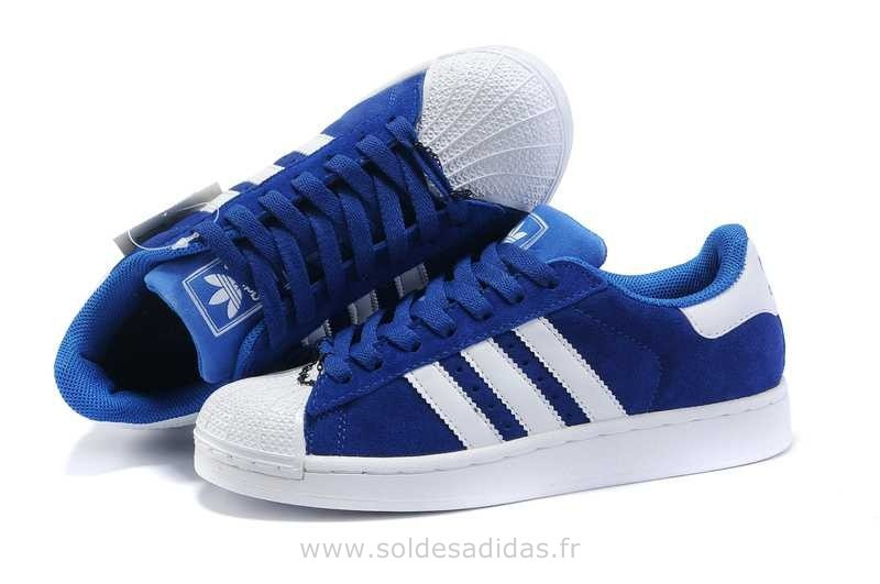 the best attitude 3d4a5 780ac adidas superstar bleu pas cher