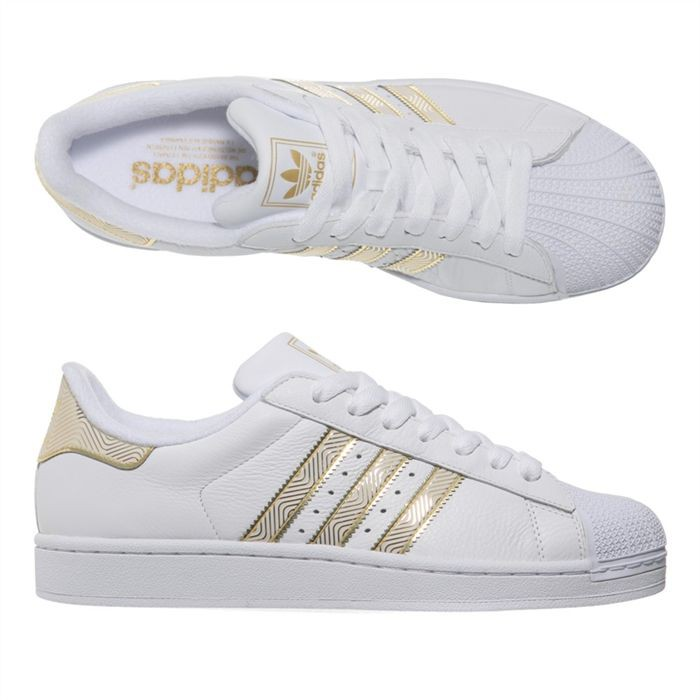 adidas superstar or et blanc