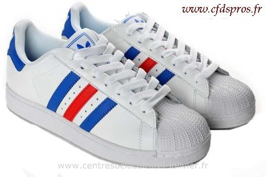 superstar homme bleu rouge
