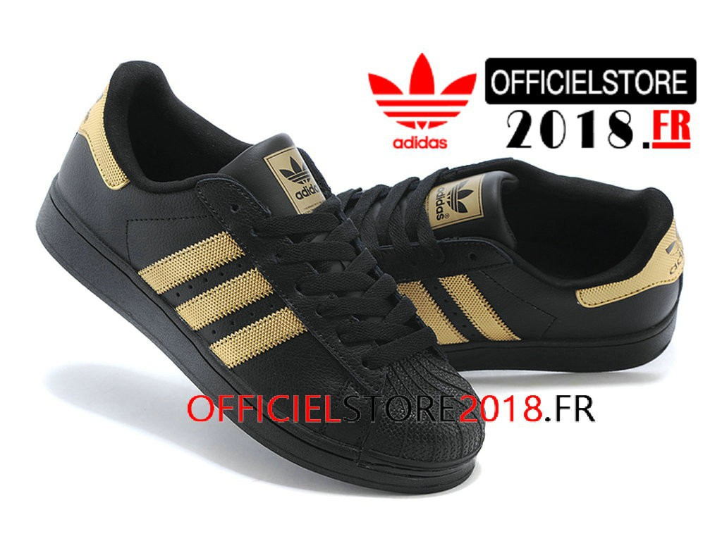 adidas superstar noir or