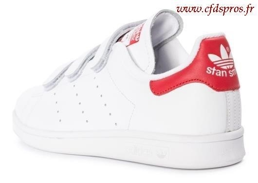 adidas stan smith blanche et rouge