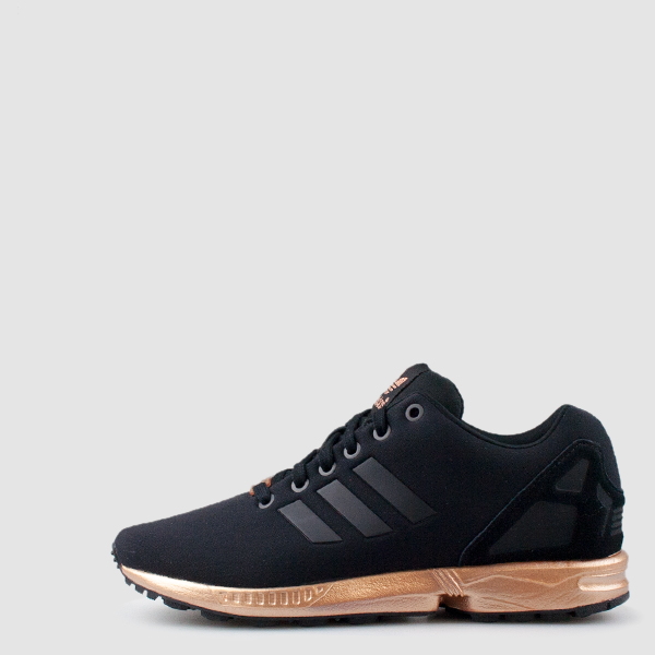 39ce3384c adidas ZX Flux Trainers  u2013 Black and Copper (Gold) - Rematch