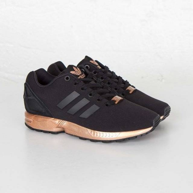 adidas z x flux rose gold