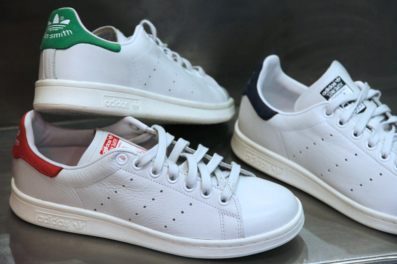 chaussures adidas stan smith cuir python pour femme blanc vert